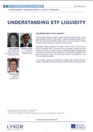 The provision of liquidity in ETF markets